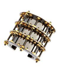 Eddie Borgo | Metallic Gunmetalplated and Brass Cuff | Lyst