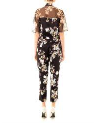 Erdem - Black Vala Eames Garden-print Silk Jumpsuit - Lyst