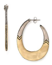 House of Harlow 1960 | Metallic Modern Tribal Hoop Earrings | Lyst