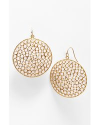 Nunu Designs | Metallic Round Drop Earrings | Lyst