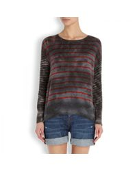 Raquel Allegra | Gray Striped Cashmere Jumper | Lyst