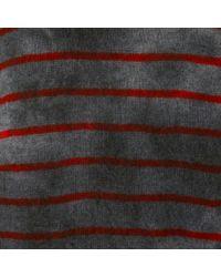 Raquel Allegra - Gray Striped Cashmere Jumper - Lyst