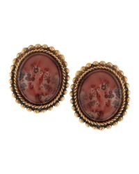 Stephen Dweck | Metallic Oval Landscape Jasper Earrings | Lyst