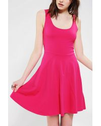 Urban Outfitters - Pink Sparkle Fade Knit Skater Dress - Lyst
