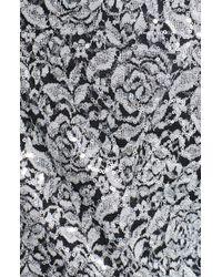 Alex Evenings | Black Printed Side Tie Blouse | Lyst
