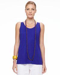 Eileen Fisher | Blue Bindu Silk Beaded Necklace | Lyst