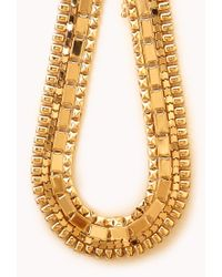Forever 21 - Metallic Standout Chain Necklace - Lyst
