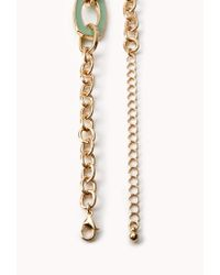 Forever 21 | Metallic Luxe Chain-link Necklace | Lyst