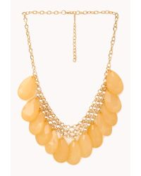 Forever 21 | Metallic Show Off Faux Stone Necklace | Lyst