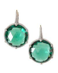 Judith Ripka - Blue Large Silver Eclipse Quartz Earrings - Lyst
