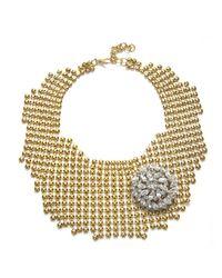 Lulu Frost | Metallic Corkboard Single Brooch Necklace | Lyst