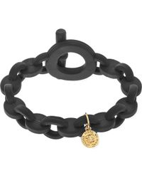 Marc By Marc Jacobs | Black Toggle Rubber Bracelet | Lyst