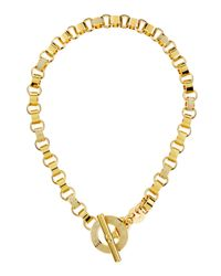 Marc By Marc Jacobs - Metallic Enamel Toggle Necklace Cream - Lyst
