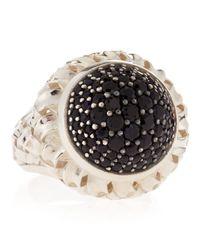 Slane - Black Sapphire Pave Basket-Weave Ring - Lyst