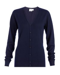 Sunspel | Blue Women's Fine Merino V-neck Cardigan | Lyst