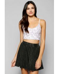 Urban Outfitters - White Pins and Needles Ballerina Sequin Bra Top - Lyst