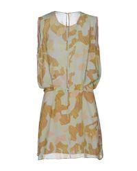 Acne Studios - Yellow Short Dress - Lyst