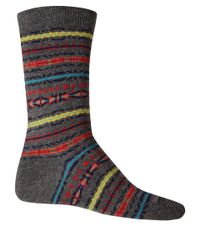Anonymous Ism - Multicolor Charcoal Fair Isle Pattern Ankle Socks for Men - Lyst