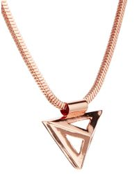 ASOS - Metallic Whistles Geometric Necklace - Lyst
