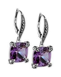 Judith Jack - Purple Earrings - Lyst