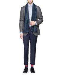 Paul Smith | Blue Herringbone Wool Scarf for Men | Lyst