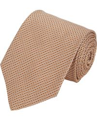Petronius - Orange Dotted Squares Tie for Men - Lyst