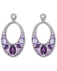 Swarovski | Purple Vividness Pierced Earrings | Lyst