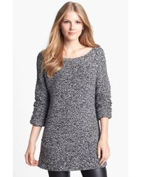 Vince Camuto | Black Basket Weave & Rib Knit Sweater | Lyst