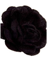 ASOS - Black River Island Flower Lapel Pin for Men - Lyst