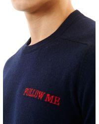 Michael Bastian - Blue Follow Me Cashmere Sweater for Men - Lyst