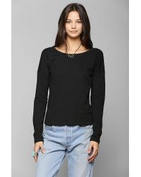Urban Outfitters - Black Pins and Needles Metallic Lace Back Pullover Sweatshirt - Lyst
