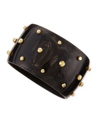 Ashley Pittman | Black Studded Anga Bangle | Lyst