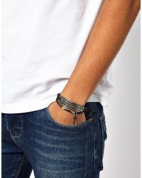ASOS - Black Bracelet Pack with Dog Tag and Cross for Men - Lyst