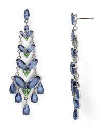 Carolee - Blue Girls Night Out Navette Chandelier Earrings - Lyst