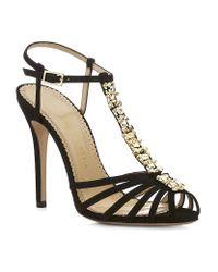 Charlotte Olympia | Black Gummi Bear Suede Sandal | Lyst