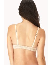 Forever 21 - Natural Ultra Floral Lace Pushup Bra - Lyst