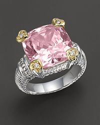 Judith Ripka | Pink Stone Heart Prong Ring | Lyst