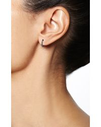 Maria Tash - Metallic Black Rhodium Diamond Clicker - Lyst