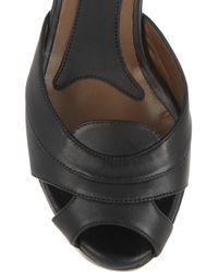 Marni - Black Leather Wedge Sandals - Lyst
