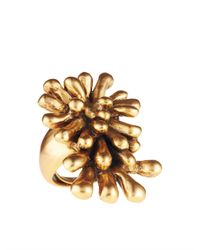 Oscar de la Renta - Metallic Seaweed Ring - Lyst