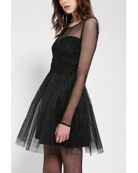 Urban Outfitters - Black Pins and Needles Meshtop Tulle Dress - Lyst