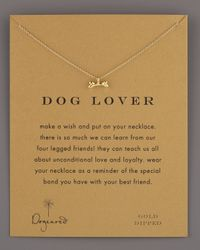 Dogeared - Metallic Dog Lover Bone-pendant Necklace - Lyst