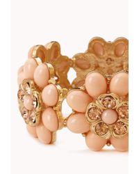Forever 21 - Pink Heirloom Floral Bracelet - Lyst