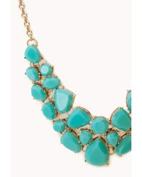 Forever 21 - Green Sweet Side Bib Necklace - Lyst