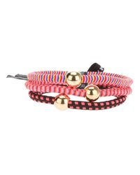 Marc By Marc Jacobs - Pink Mixed Striped Pony Bands Set - Lyst