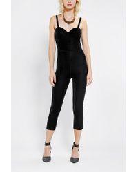 Urban Outfitters | Black Motel Raven Velvet Jumpsuit | Lyst