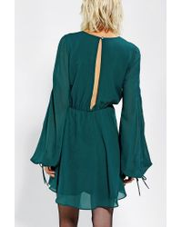 Urban Outfitters - Green Dress The Population Mara Long Sleeve Dress - Lyst