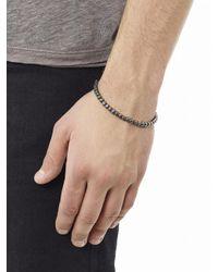 Bottega Veneta | Metallic Intrecciato Oxidised Silver Bracelet for Men | Lyst