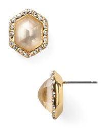 Alexis Bittar - Metallic Pavé Citrine Doublet Hexagon Stud Earrings - Lyst