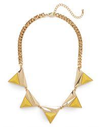 BaubleBar - Yellow Sun Collar - Lyst
